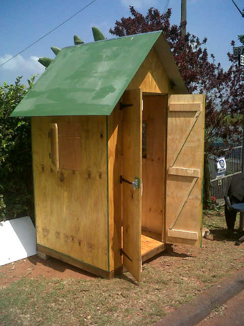 1.2m guard hut - double doors