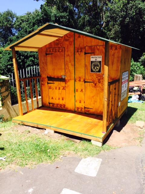2.4m x 2.4m guard hut