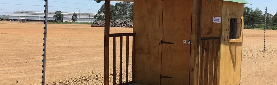 1.8m x 2.4m guard hut