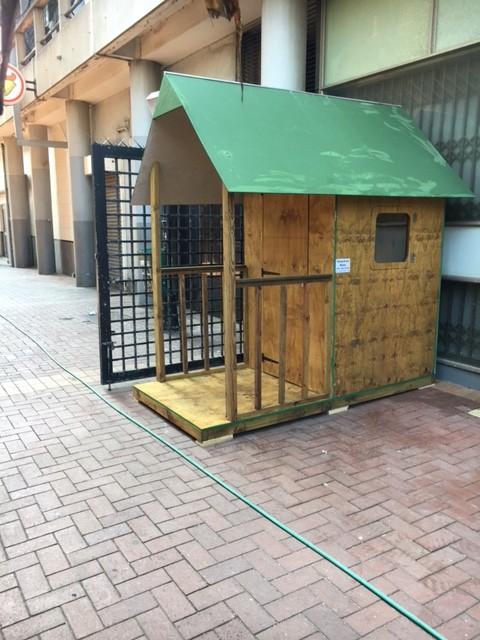 1.2m x 2.4m guard hut